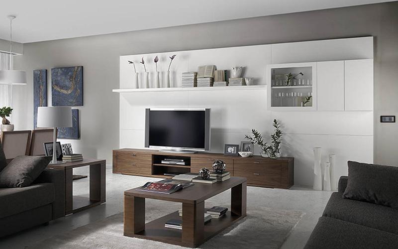 Sal n modulares vitrinas estanterias muebles capsir for Muebles de salon modulares