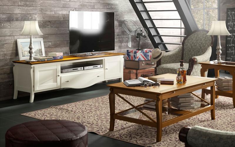 Sal n modulares vitrinas estanterias muebles capsir for Muebles seys