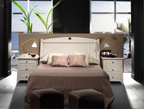 dormitorio blanco rústico madera