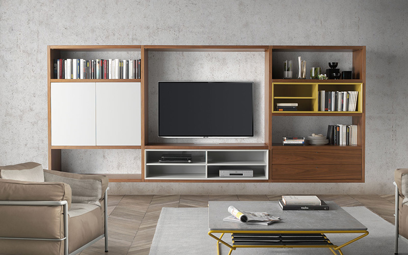 My cms ideas para colocar la tv for Muebles librerias modernas