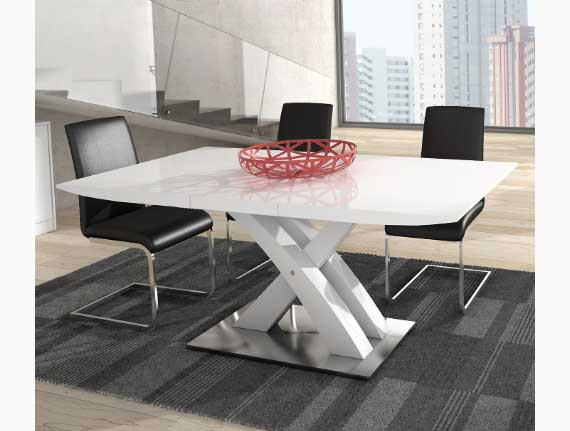 mesa pata central moderna