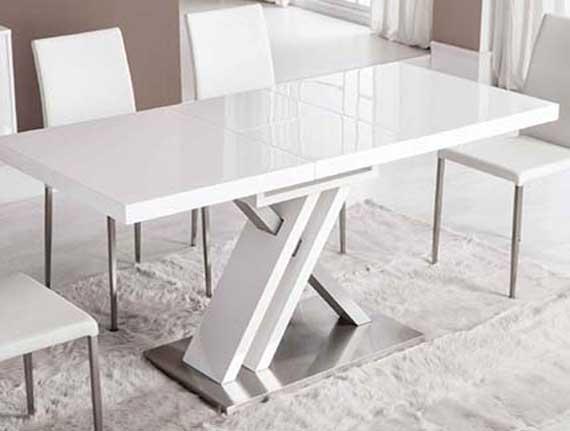 mesa blanca pata central