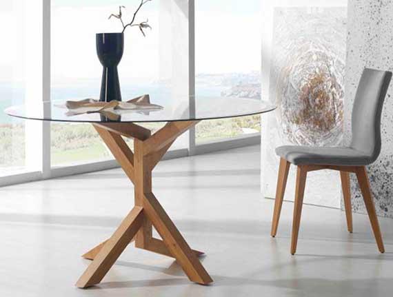 Cristal y madera