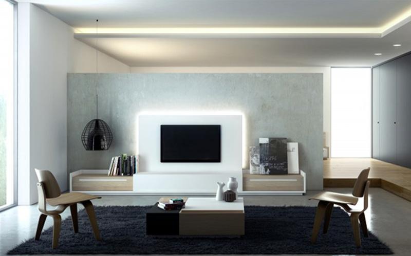 Ideas para colocar la tv muebles capsir for Cambiar el aspecto de un mueble de salon