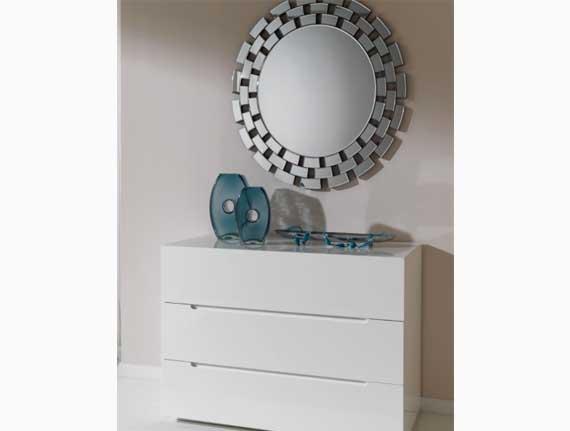 cónsola espejo circular