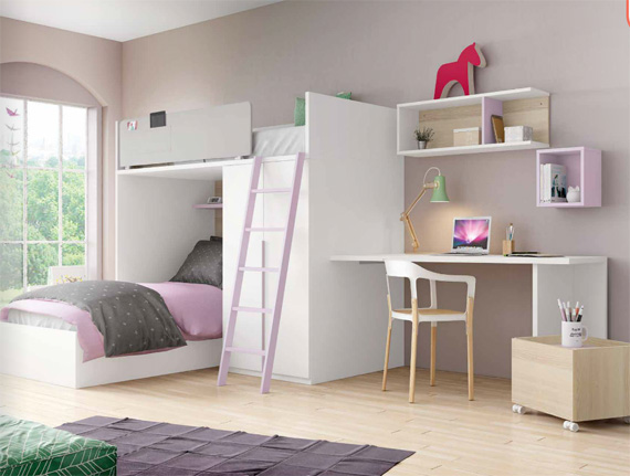 Affordable Interesting Perfect Atx U Rose With Habitacion Juvenil Dos Camas  With Amueblar Habitacion Juvenil With Juveniles De Dos Camas