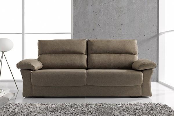 Colchon para sofa cama sofa cama con somier colchon y arcon tapizado marron o gris de salon - Colchon para sofa cama ...