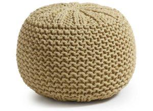 Puf tricotado algodón