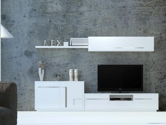 Salones modernos muebles capsir for Muebles blancos modernos