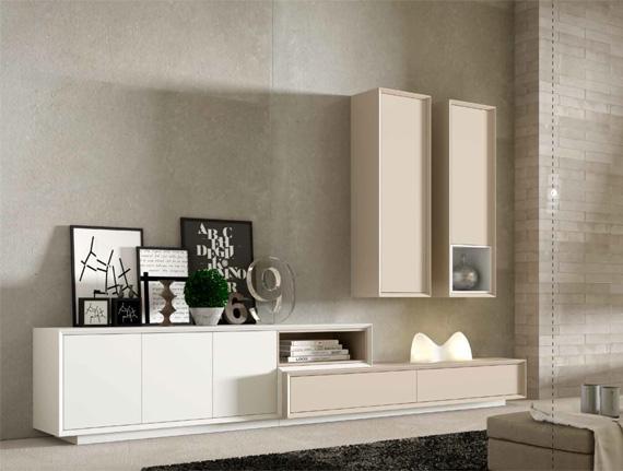 Salones modernos muebles capsir for Muebles de salon lacados