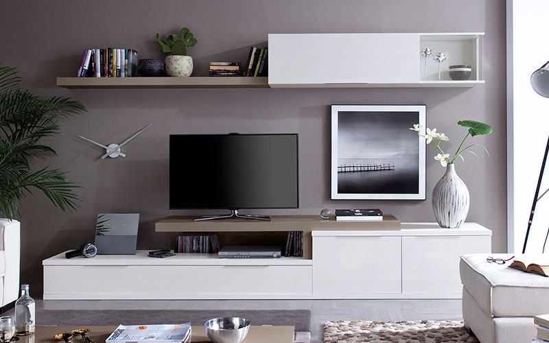 Salones modernos muebles capsir for Muebles low cost