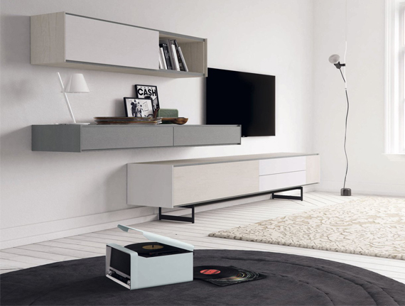 Ideas para colocar la tv muebles capsir for Mueble salon colgado