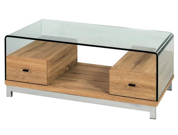Mesas de centro muebles capsir for Mesas de centro madera y cristal