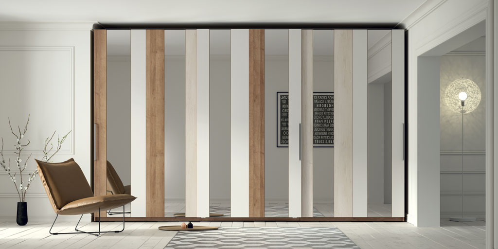Armario-puertas-correderas-franjas-verticales-espejo