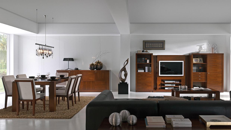 Salón comedor clásico moderno - Muebles Capsir